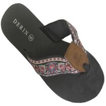 Flip Flops in Black Raspberry